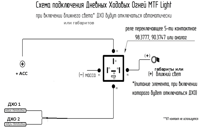 Фото №13 - схема подключения ходовых огней на ВАЗ 2110