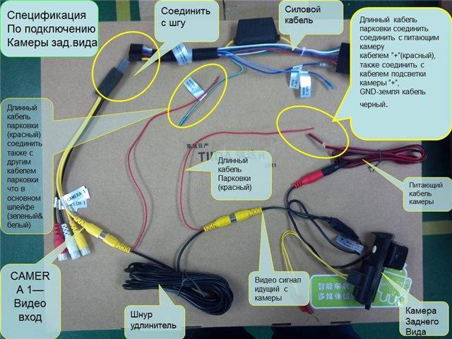 Схема подключения камеры заднего вида хендай солярис