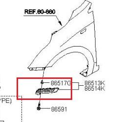 Нажмите на изображение для увеличения.  Название:кронштейн бампера крыла левая.jpg Просмотров:12 Размер:17.2 Кб ID:128935